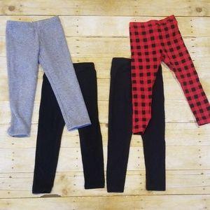 Four pairs girls leggings